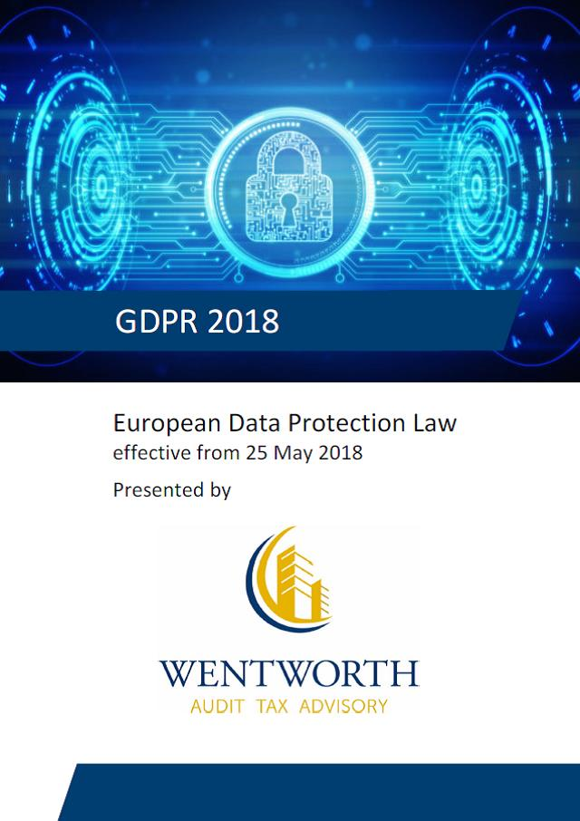 WENTWORTH GDPR Summary 2018